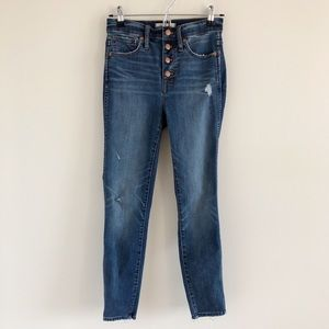 """Madewell 10"""" High-Rise Button Fly Skinny Jeans 25"""